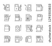 set of gas related vector line... | Shutterstock .eps vector #1293503833