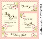 wedding invitation  thank you... | Shutterstock .eps vector #129350984