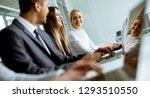 group of  multiethnic business... | Shutterstock . vector #1293510550