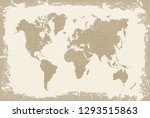 grunge world map.old vintage... | Shutterstock .eps vector #1293515863