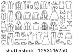 woman and man clothes and... | Shutterstock .eps vector #1293516250