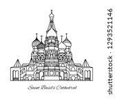 the most famous cathedral in... | Shutterstock .eps vector #1293521146