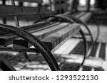 monochrome bench in public park ... | Shutterstock . vector #1293522130