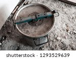 the top cover of an old metal... | Shutterstock . vector #1293529639