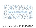 molecule vector linear... | Shutterstock .eps vector #1293530200