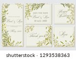 floral wedding invitation with... | Shutterstock .eps vector #1293538363
