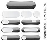 black interface buttons. web... | Shutterstock .eps vector #1293543076