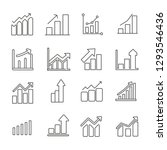 set of increase related vector... | Shutterstock .eps vector #1293546436