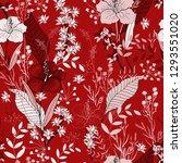 japanese garden seamless... | Shutterstock .eps vector #1293551020