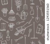 gardening seamless pattern with ... | Shutterstock .eps vector #1293551560