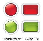 white buttons red and green ... | Shutterstock .eps vector #129355610