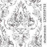 vintage rococo texture pattern... | Shutterstock .eps vector #1293559753