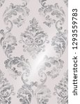rococo pattern texture vector.... | Shutterstock .eps vector #1293559783