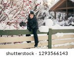 little cute boy is having fun... | Shutterstock . vector #1293566143