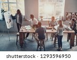 going over business details....   Shutterstock . vector #1293596950