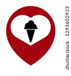 ice cream icon and map pin....