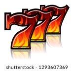 triple lucky blazing sevens... | Shutterstock .eps vector #1293607369