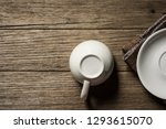 close up cleaning coffee cup on ... | Shutterstock . vector #1293615070