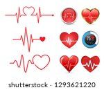 heartbeat icon set and ... | Shutterstock .eps vector #1293621220