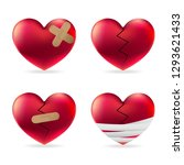 heart injury with adhesive... | Shutterstock .eps vector #1293621433