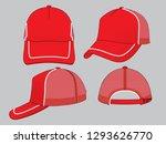 red net trucker cap design  ... | Shutterstock .eps vector #1293626770