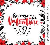 be my valentine. love hand... | Shutterstock .eps vector #1293627730