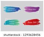 trendy banner flat design set... | Shutterstock .eps vector #1293628456