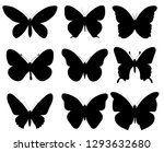 set of butterflies silhouettes  ... | Shutterstock .eps vector #1293632680