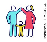child protection color icon.... | Shutterstock .eps vector #1293638266