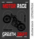 motor race print for t shirt... | Shutterstock .eps vector #1293639616