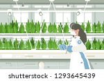 eco farm with aquaponics system ... | Shutterstock .eps vector #1293645439