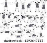 vector icons of man in costume... | Shutterstock .eps vector #1293647116