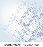 vector of blue print architect | Shutterstock .eps vector #129364850