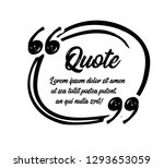 drawn quotes and a frame to...   Shutterstock .eps vector #1293653059