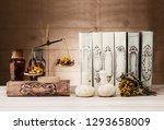 herbal chinese medicine concept.... | Shutterstock . vector #1293658009