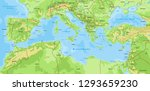 Map Of Mediterranean Sea  With...