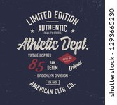 """athletic dept.""  vector... | Shutterstock .eps vector #1293665230"