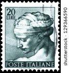 italy   circa 1961  a stamp... | Shutterstock . vector #129366590