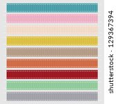 set of nine pastel grosgrain... | Shutterstock .eps vector #129367394