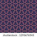 hexagon structure geometric...   Shutterstock .eps vector #1293676543