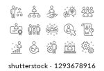 management line icons. business ... | Shutterstock .eps vector #1293678916