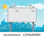 empty urban big board or... | Shutterstock .eps vector #1293684880