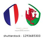 france vs wales  2019 rugby six ... | Shutterstock .eps vector #1293685303