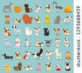 vector illustration set of cute ... | Shutterstock .eps vector #1293688459