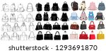 white background  bag and... | Shutterstock .eps vector #1293691870