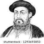 ferdinand magellan  1480 1521 ...   Shutterstock .eps vector #1293693853