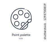 linear paint palette icon from... | Shutterstock .eps vector #1293700819