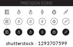 precision icons set. collection ... | Shutterstock .eps vector #1293707599