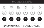 materials icons set. collection ... | Shutterstock .eps vector #1293707683