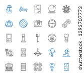 leisure icons set. collection... | Shutterstock .eps vector #1293707773